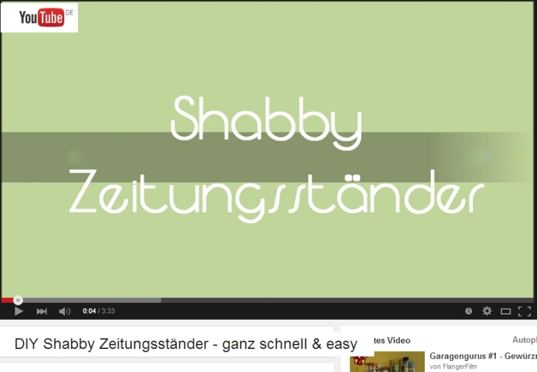 shabby chic youtube