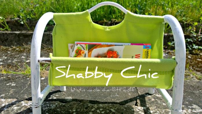 Shabby Chic Zeitungsständer